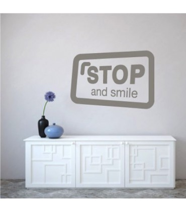 Vinilo stop and smile