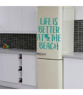Vinil amb frase decorativa beach