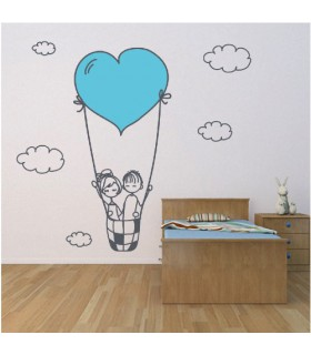 Vinil decoratiu Love in the sky